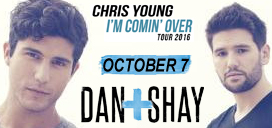 Dan + Shay October 7 at Pan American Center