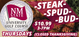 Steak, Spud and a Bud for $10.99 Thursdays from 3-7pm at The Player's Grill