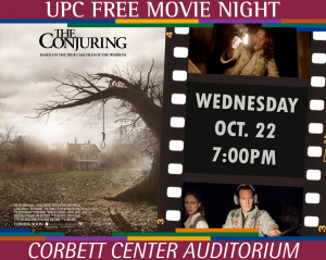 Free Screening of THE CONJURING 7pm Oct. 8 at Corbett Center Auditorium