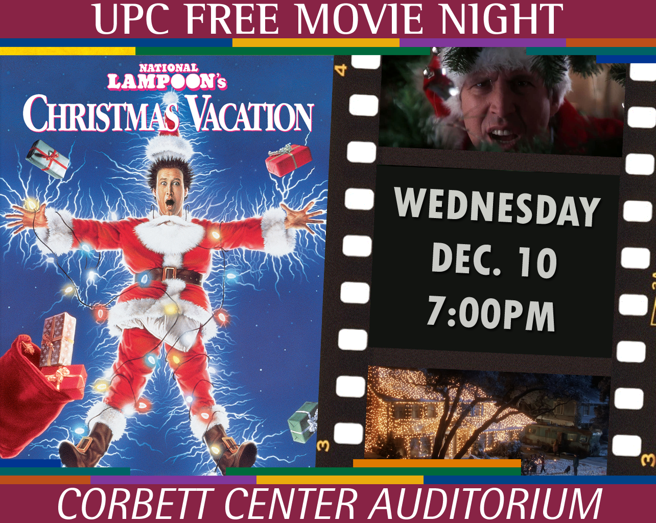 Free Screening of CHRISTMAS VACATION 7pm Nov. 12 at Corbett Center Auditorium