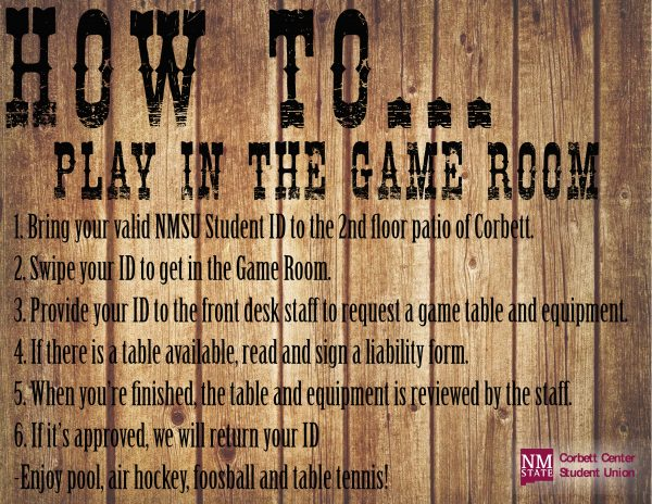 Game Room Rules