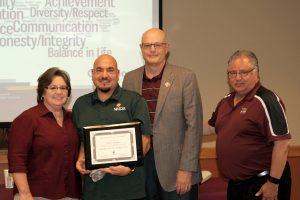 6/10/16: Anthony Marquez receives his Certificate of Completion at the ALTA Luncheon. (Photo by Victoria Palombit)