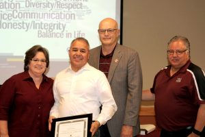 6/10/16: Abel Sanchez receives his Certificate of Completion at the ALTA Luncheon. (Photo by Victoria Palombit)
