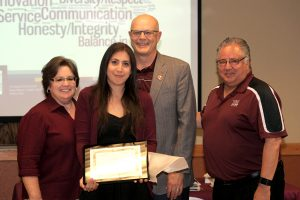 6/10/16: Melissa Chavira receives her Certificate of Completion at the ALTA Luncheon. (Photo by Victoria Palombit)
