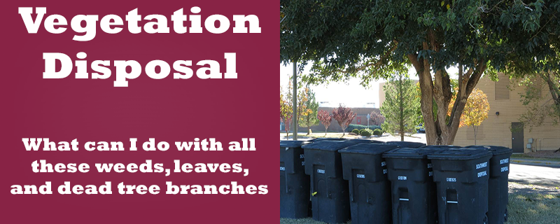 Vegetation disposal
