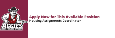 Apply now for the Housing Assignments Coordinator position