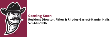 Resident Director of Pinon and RGH Coming Soon