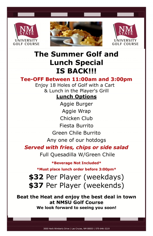 Summer golf and lunch special