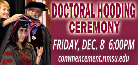 Doctoral Hooding Ceremony Dec. 8 at 6pm at Pan American Center