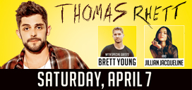 Thomas Rhett, Brett Young and Jillian Jacqueline to perform at Pan American Center April 7