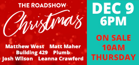 Tickets for The Roadshow Christmas are on sale 10am Thursday