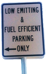 LEED Parking Sign