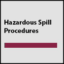 Hazardous Spill Procedures