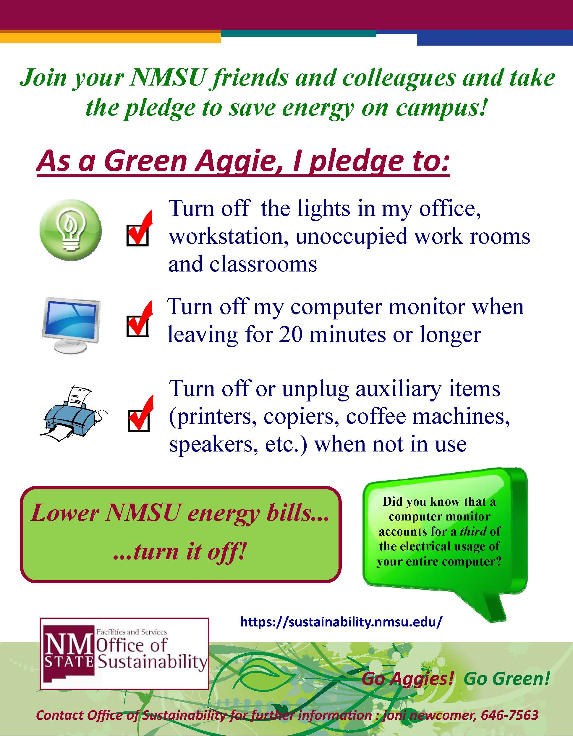 Energy Reduction Sustainability At Nmsu New Mexico